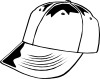 free vector Baseball Cap (b And W) clip art