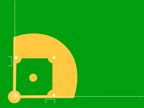 free vector Baseball Diamond clip art