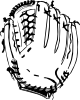 free vector Baseball Glove (b And W) clip art
