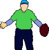 free vector Baseball Player clip art