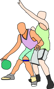 free vector Basket Ball Players clip art