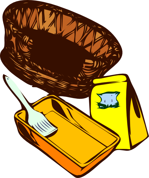 free vector Basket Paint Cat Food clip art