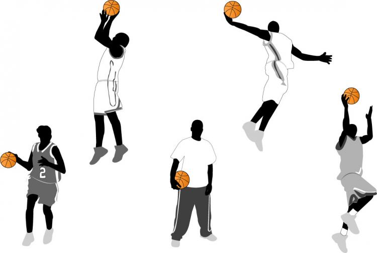 free vector Basketball action figures