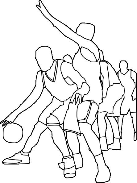 free vector Basketball Game Outline clip art