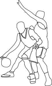 free vector Basketball Offense And Defense clip art