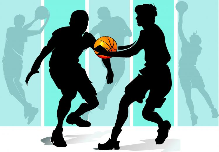 Basketball silhouette character vector Free Vector / 4Vector