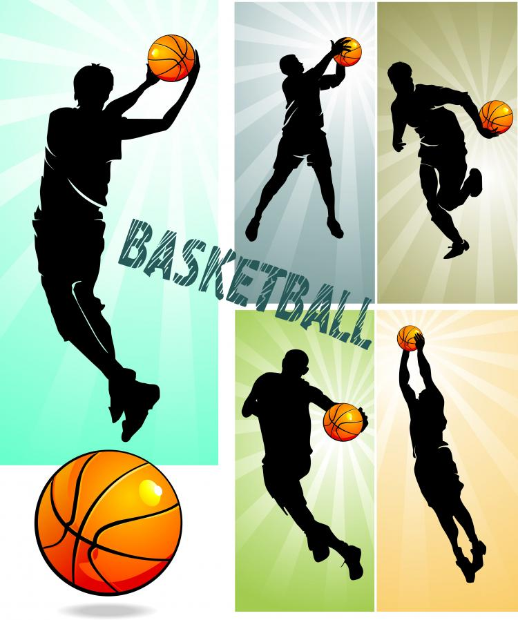 free vector Basketball silhouette character vector