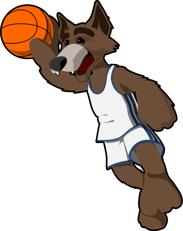 free vector Basketball wolf