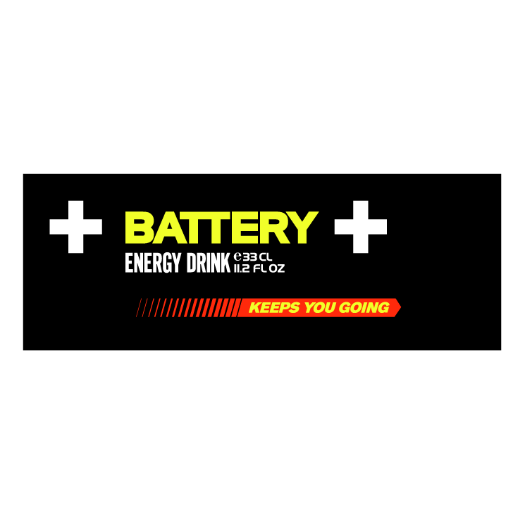 free vector Battery energy drink