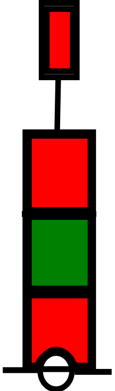 free vector Beacon red-green-red IALA A