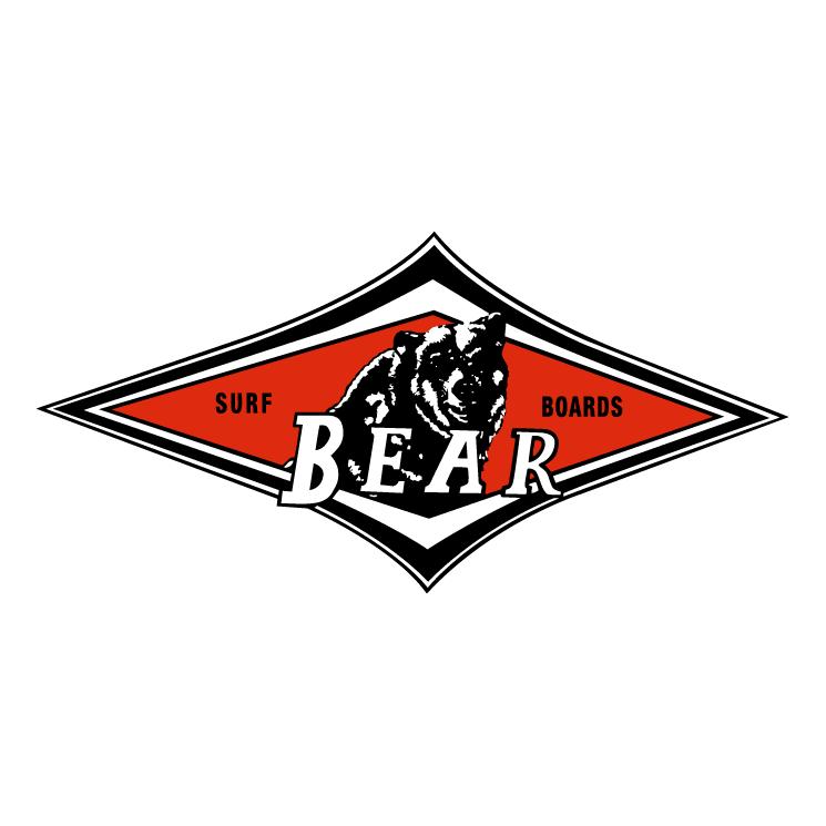 free vector Bear surf boards 0