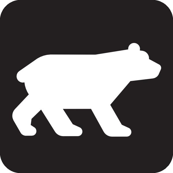 free vector Bear Viewing Black clip art