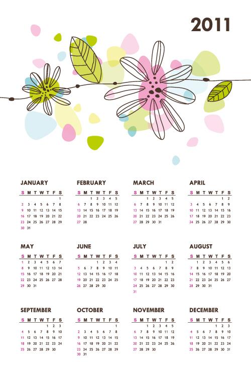 free vector Beautiful 2011 calendar vector