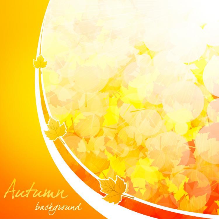 free vector Beautiful autumn background 04 vector