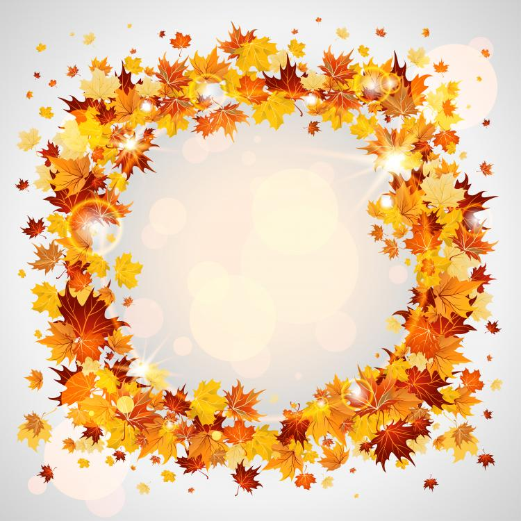 free vector Beautiful autumn leaves card 04 vector