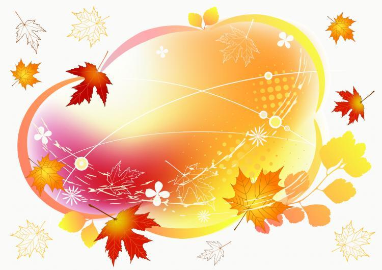 free vector Beautiful autumn photo frame vector