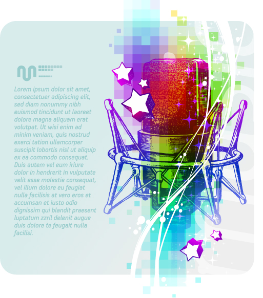 free vector Beautiful background music poster vector