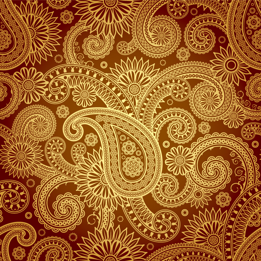 Beautiful Background Of Classical Pattern Vector Free