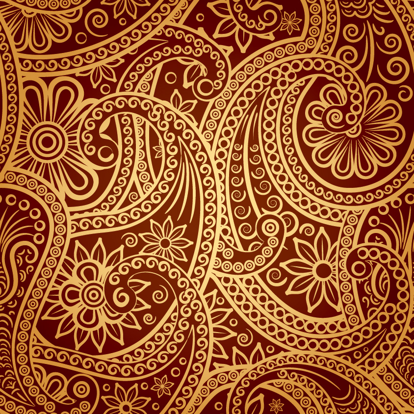 free vector Beautiful background of classical pattern vector