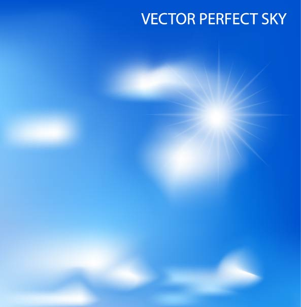 free vector Beautiful blue sky 02 vector