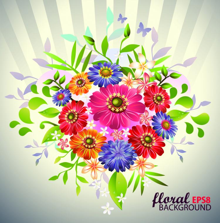 free vector Beautiful bouquet 05 vector