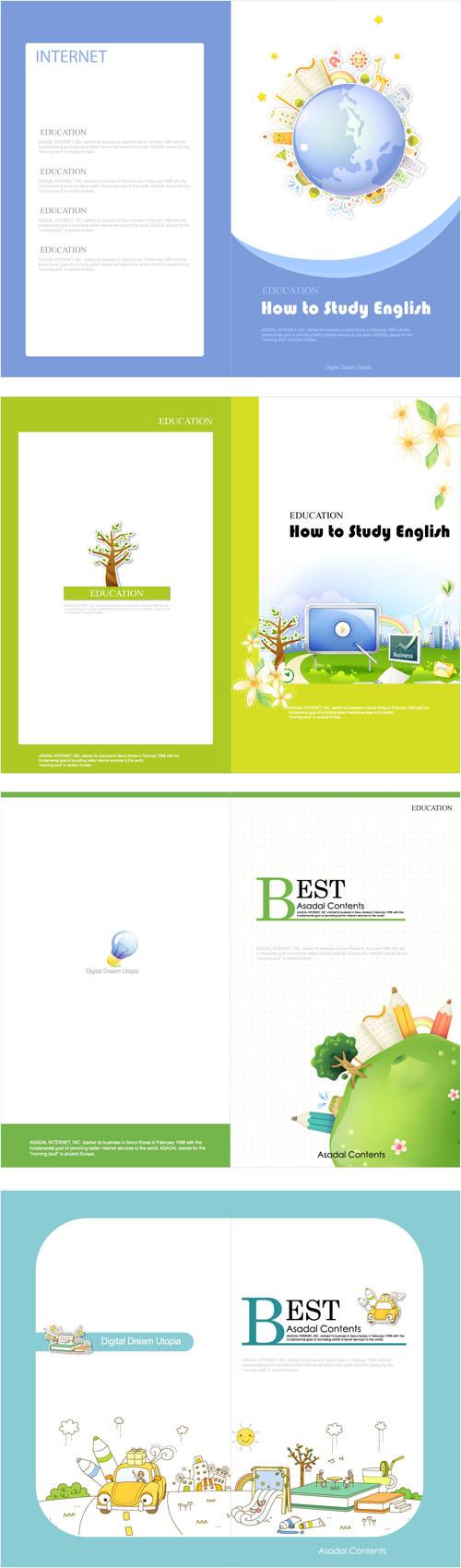 free vector Beautiful brochure 02 vector