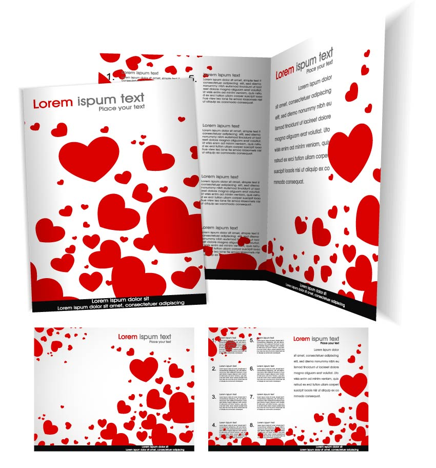 free vector Beautiful brochures and flyers 01 vector