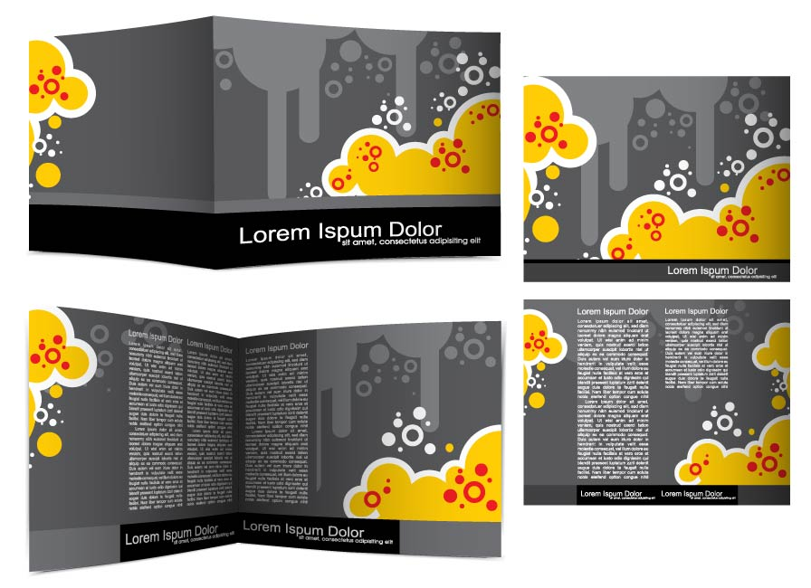 free vector Beautiful brochures and leaflets 02 vector
