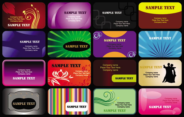 free vector Beautiful business card templates vector