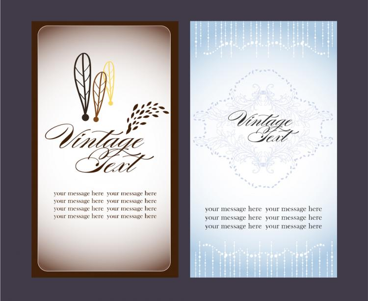 free vector Beautiful card 02 vector