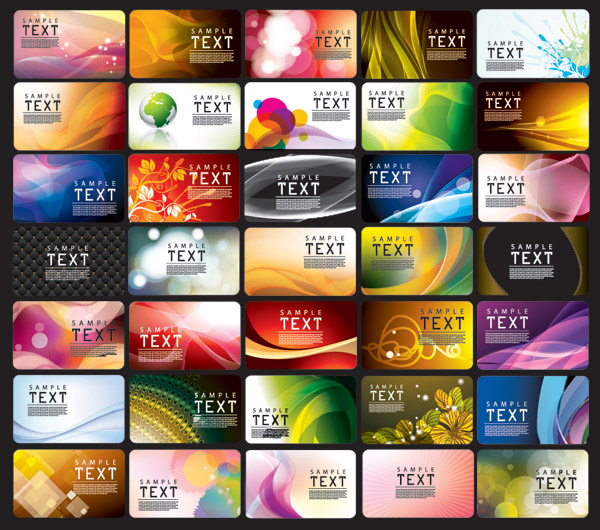 free vector Beautiful card background vector 2 glare