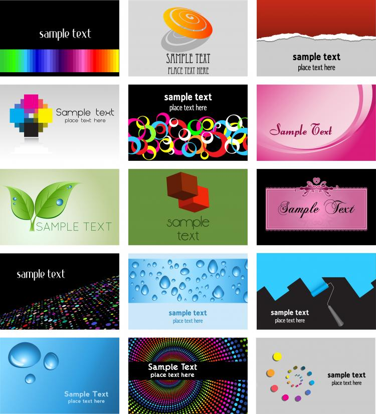 free vector Beautiful card template vector