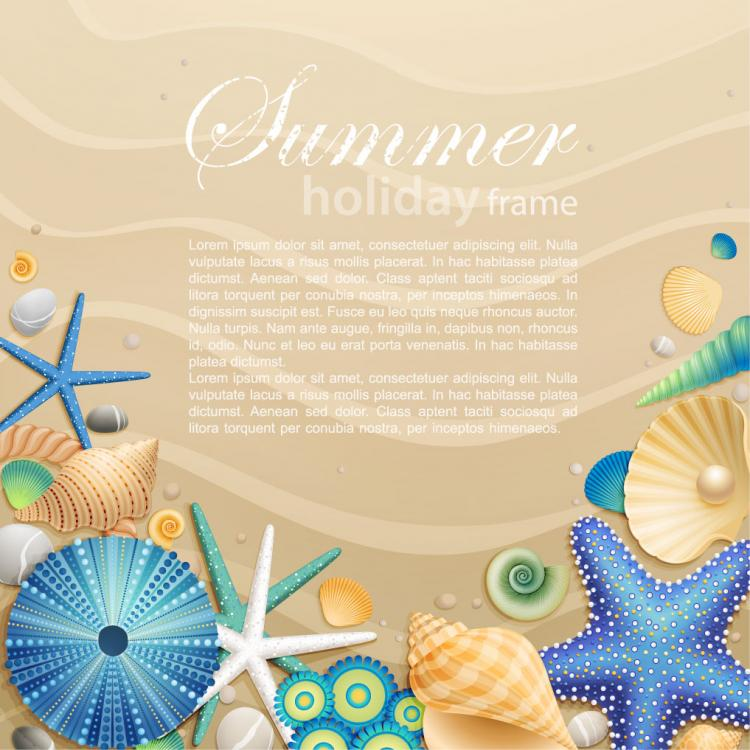 free vector Beautiful cartoon ocean background 03 vector