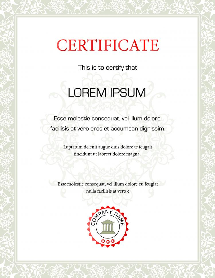 Beautiful certificate template vector Free Vector 4Vector – Template for Certificates