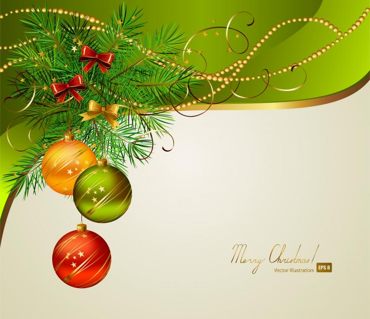 Free christmas vectors download christmas vector images and art free - Beautiful Christmas Background 01 Vector