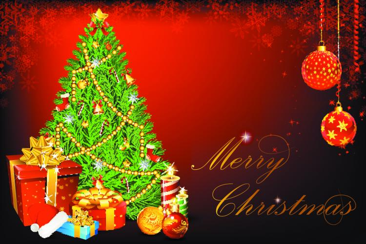 Beautiful Christmas Background 16505 Free Eps Download