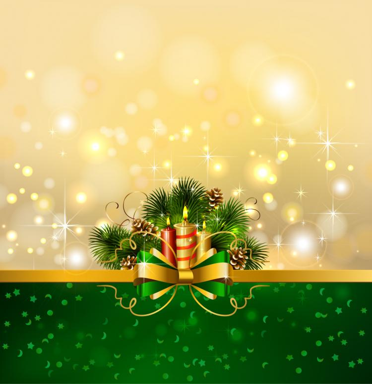 Beautiful christmas background 04 vector free vector 4vector for Pretty christmas pics
