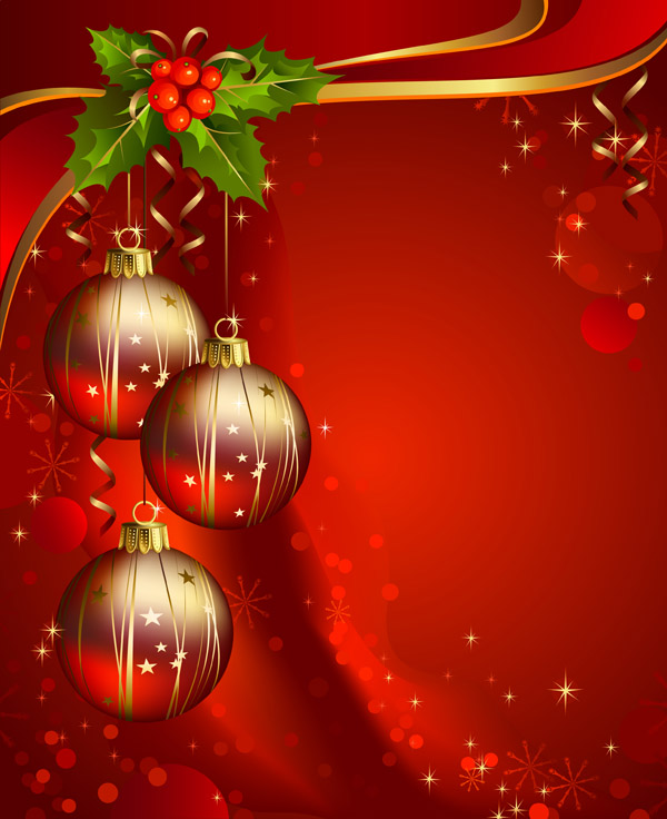 Beautiful christmas background vector Free Vector / 4Vector