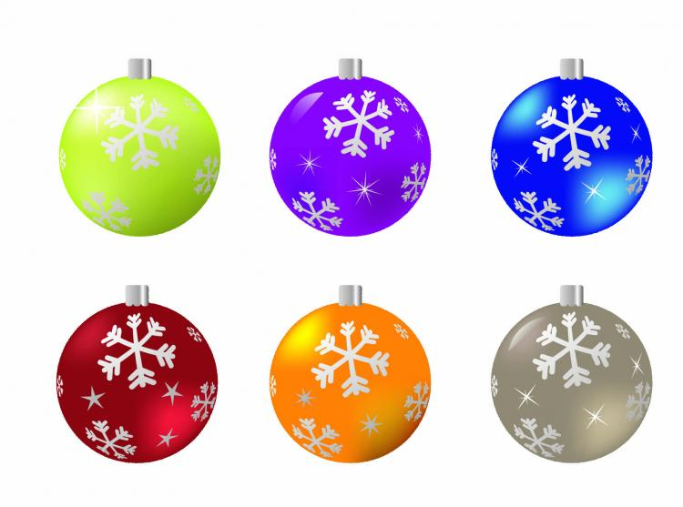 free vector Beautiful christmas ball 04 vector