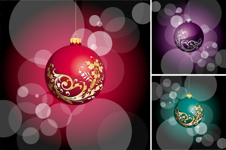 free vector Beautiful christmas ball vector