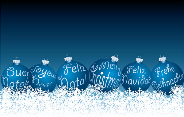 free vector Beautiful christmas ball vector