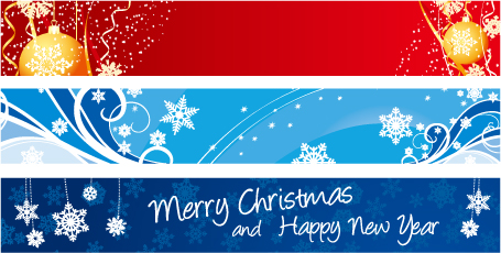 Beautiful christmas banner banner vector Free Vector / 4Vector