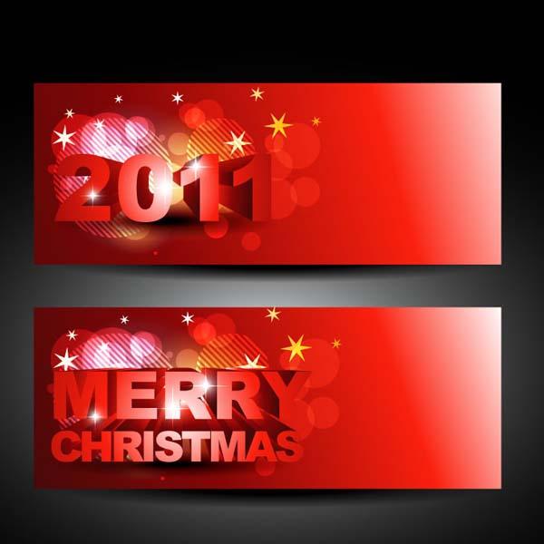 free vector Beautiful christmas banner vector