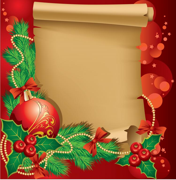 beautiful christmas border background 02 vector free vector / 4vector