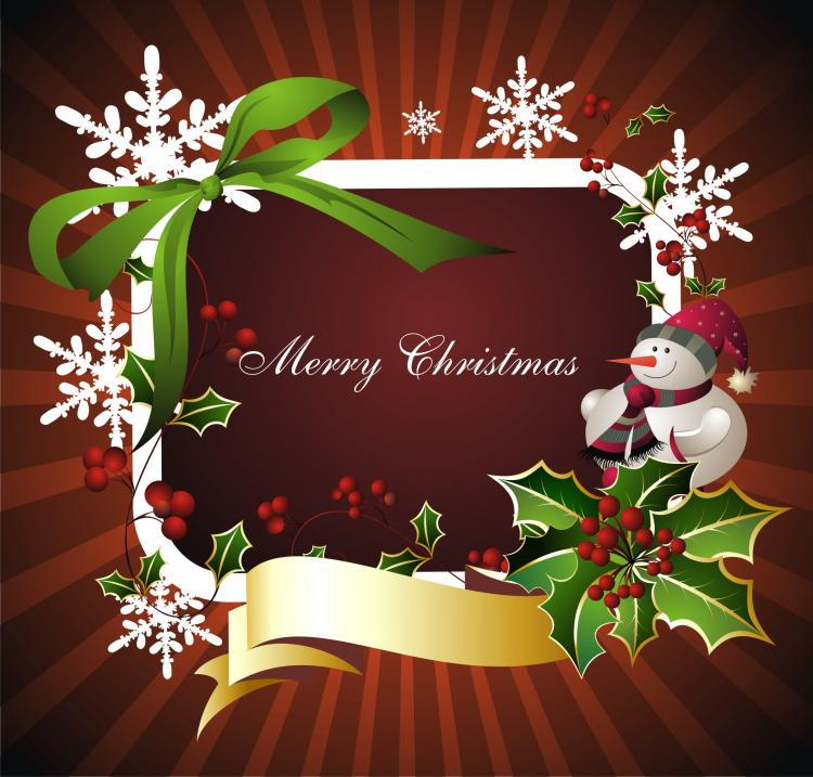 free vector Beautiful christmas border background 03 vector
