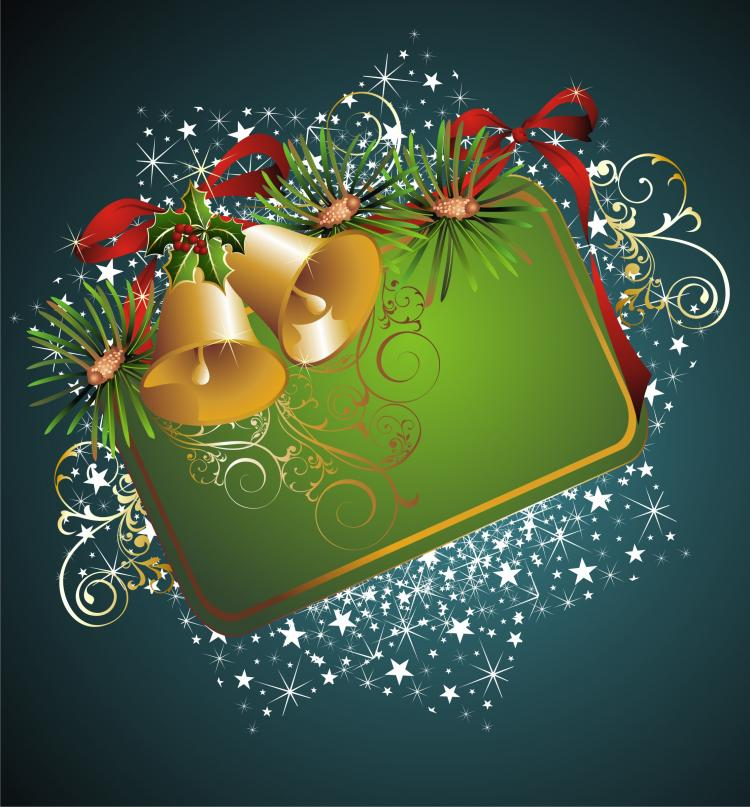 free vector Beautiful christmas border background 04 vector