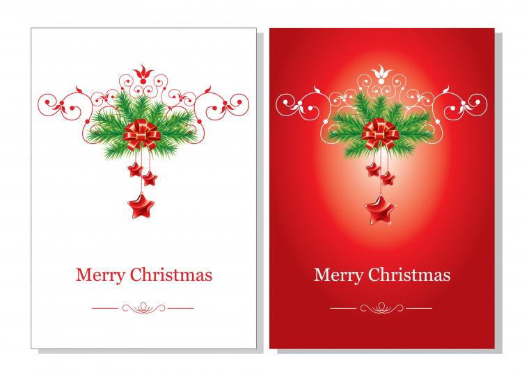 Ordinaire Beautiful Christmas Cards Vector Free Vector