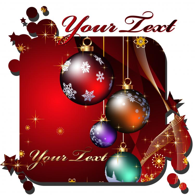 free vector Beautiful christmas cards vector