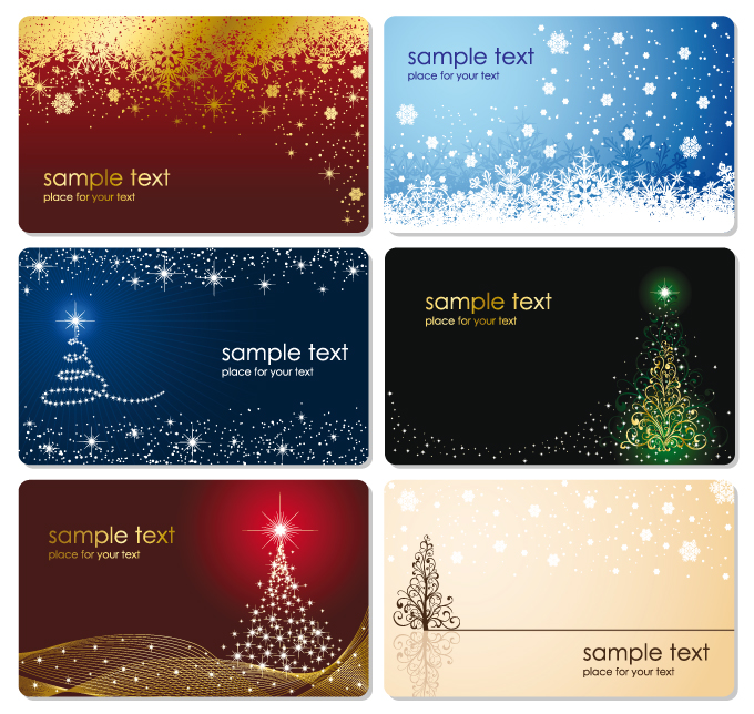 free vector Beautiful christmas cards with envelopes vector