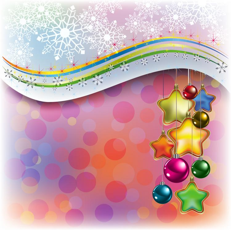 free vector Beautiful christmas decoration element 01 vector